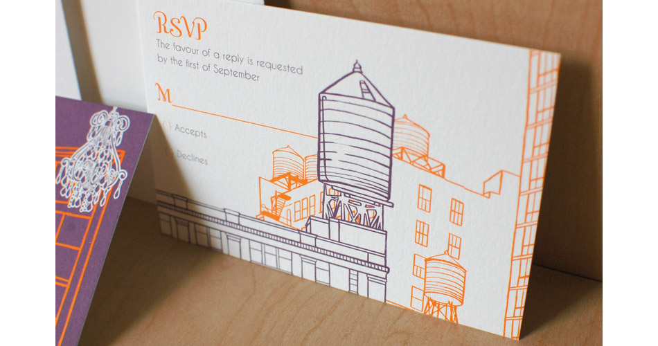 The Nic Studio Wedding Invitations Design And Ilration From Brooklyn Ny Christine Rich Tribeca Rooftops