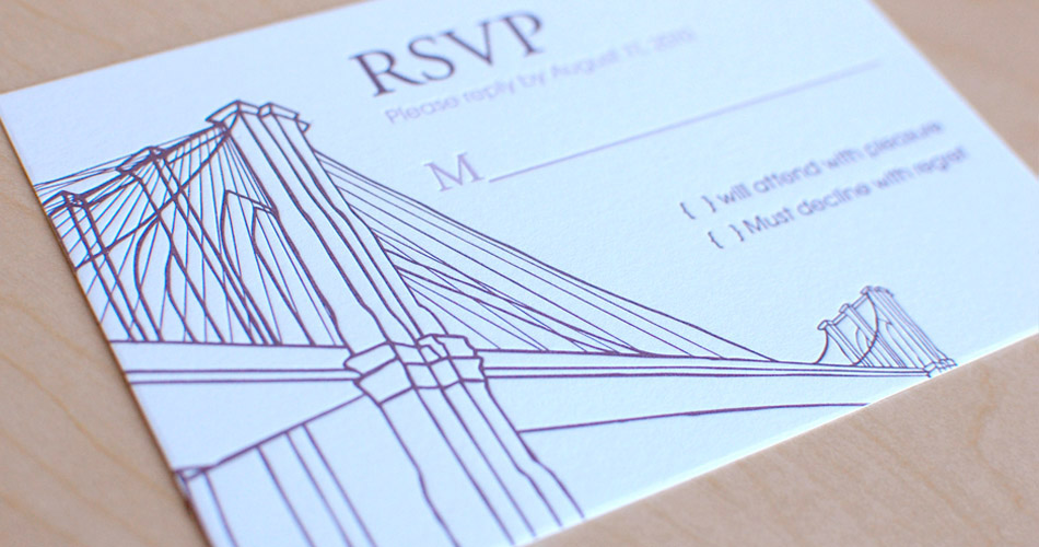 The Nic Studio Wedding Invitations Design And Ilration From Brooklyn Ny Cables Invitation Set